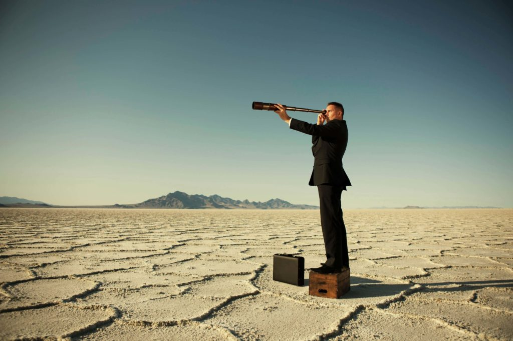 Человек ищет цель